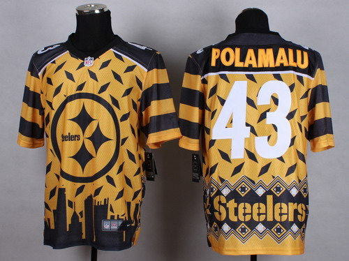 Nike Pittsburgh Steelers #43 Troy Polamalu 2015 Noble Fashion Elite Jersey