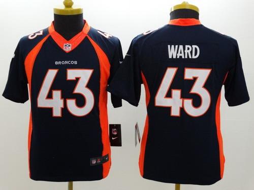 Nike Denver Broncos #43 T.J. Ward 2013 Blue Limited Kids Jersey