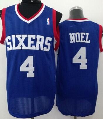Philadelphia 76ers #4 Nerlens Noel Blue Swingman Jersey