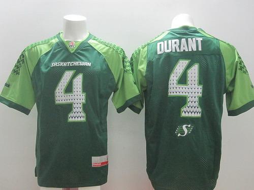 CFL Saskatchewan Roughriders #4 Darian Durant 2014 Green Jersey
