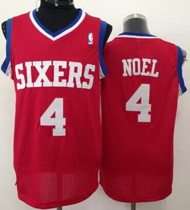 Philadelphia 76ers #4 Nerlens Noel Red Swingman Jersey