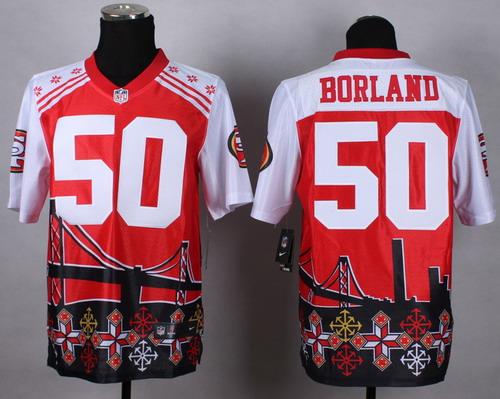 Nike San Francisco 49ers #50 Chris Borland 2015 Noble Fashion Elite Jersey