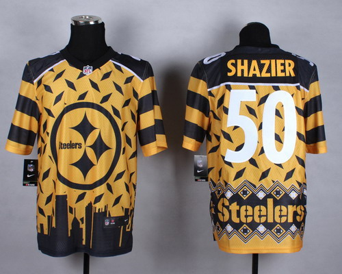 Nike Pittsburgh Steelers #50 Ryan Shazier 2015 Noble Fashion Elite Jersey