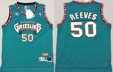 Memphis Grizzlies #50 Bryant Reeves ABA Hardwood Classics Green Throwback Swingman Jersey