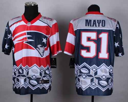 Nike New England Patriots #51 Jerod Mayo 2015 Noble Fashion Elite Jersey