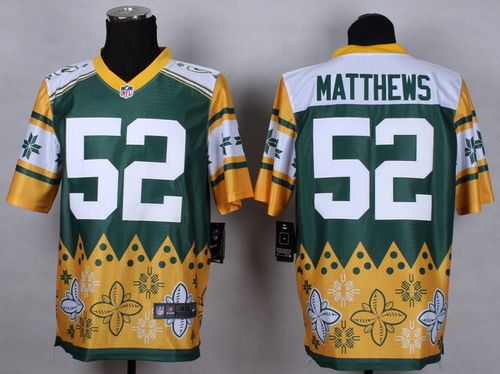 Nike Green Bay Packers #52 Clay Matthews 2015 Noble Fashion Elite Jersey