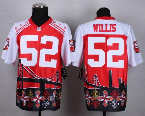 Nike San Francisco 49ers #52 Patrick Willis 2015 Noble Fashion Elite Jersey
