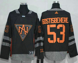 Men's North America Hockey #53 Shayne Gostisbehere Black 2016 World Cup of Hockey Stitched adidas WCH Game Jersey
