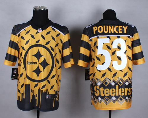 Nike Pittsburgh Steelers #53 Maurkice Pouncey 2015 Noble Fashion Elite Jersey