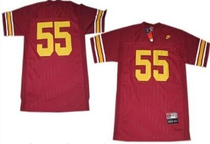 USC Trojans #55 Junior Seau Red Jersey