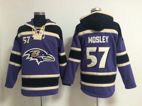 Baltimore Ravens #57 C.J. Mosley 2014 Purple Hoodie