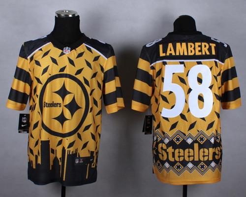 Nike Pittsburgh Steelers #58 Jack Lambert 2015 Noble Fashion Elite Jersey