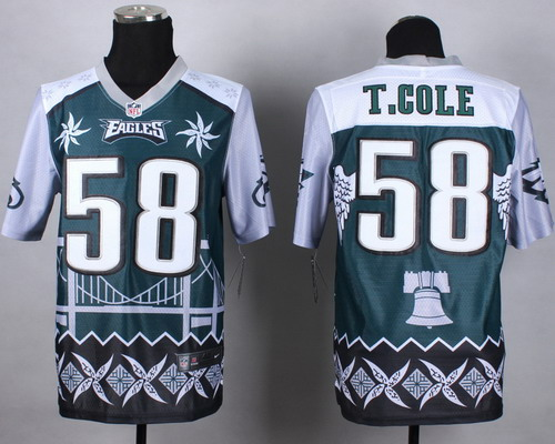 Nike Philadelphia Eagles #58 Trent Cole 2015 Noble Fashion Elite Jersey