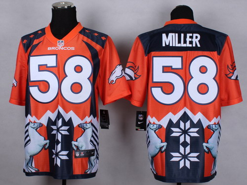 Nike Denver Broncos #58 Von Miller 2015 Noble Fashion Elite Jersey