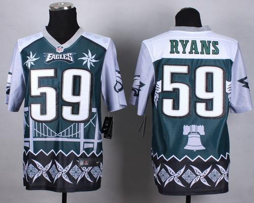 Nike Philadelphia Eagles #59 DeMeco Ryans 2015 Noble Fashion Elite Jersey