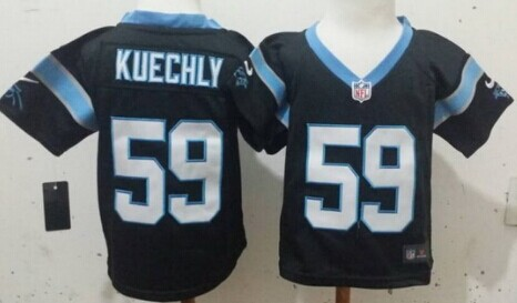 Nike Carolina Panthers #59 Luke Kuechly Black Toddlers Jersey