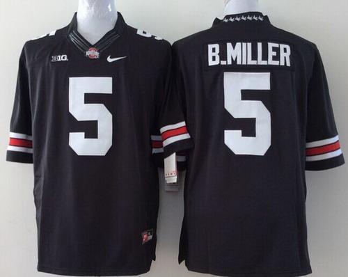 Ohio State Buckeyes #5 Braxton Miller 2014 Black Limited Kids Jersey