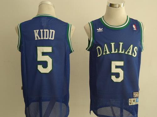 Dallas Mavericks #5 Jason Kidd Light Blue Swingman Throwback Jersey