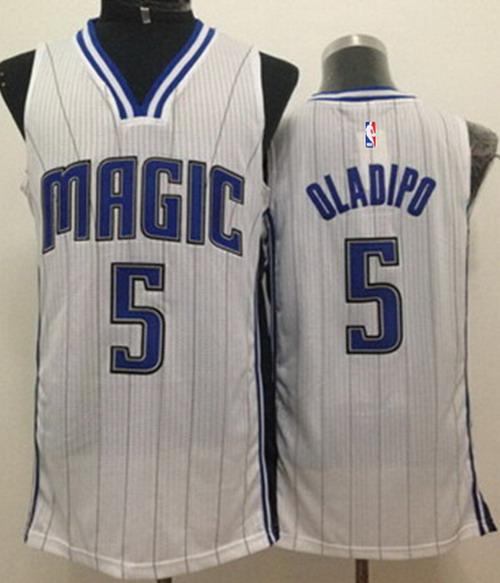 Orlando Magic #5 Victor Oladipo White Swingman Jersey