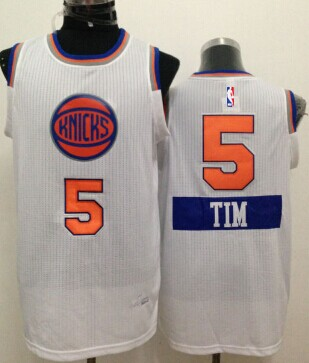New York Knicks #5 Tim Hardaway Jr. 2014 Christmas Day White Swingman Jersey