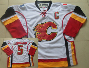 Calgary Flames #5 Mark Giordano White Jersey