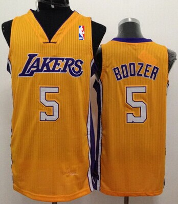 Los Angeles Lakers #5 Carlos Boozer Yellow Swingman Jersey
