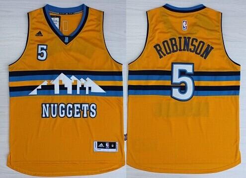 Denver Nuggets #5 Nate Robinson Revolution 30 Swingman 2014 New Yellow Jersey