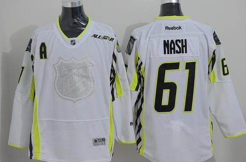 New York Rangers #61 Rick Nash 2015 All-Stars White Jersey