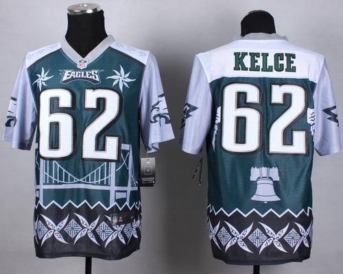 Nike Philadelphia Eagles #62 Jason Kelce 2015 Noble Fashion Elite Jersey