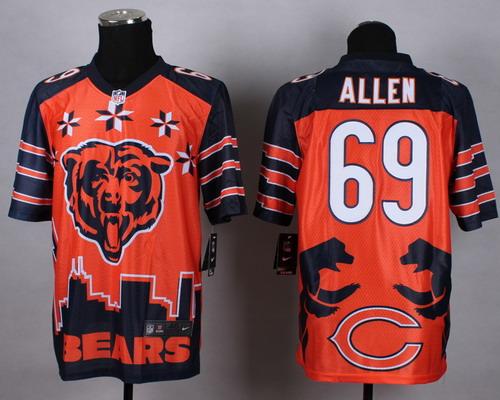 Nike Chicago Bears #69 Jared Allen 2015 Noble Fashion Elite Jersey