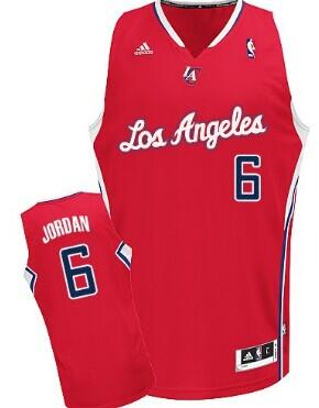 Los Angeles Clippers #6 DeAndre Jordan Red Swingman Jersey