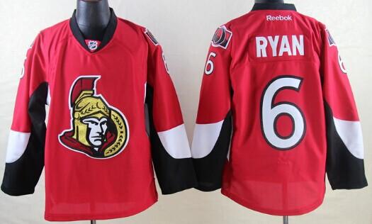 Ottawa Senators #6 Bobby Ryan Red Jersey