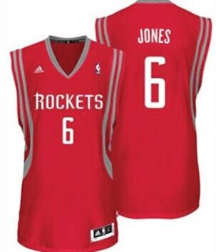 Houston Rockets #6 Terrence Jones Red Swingman Jersey