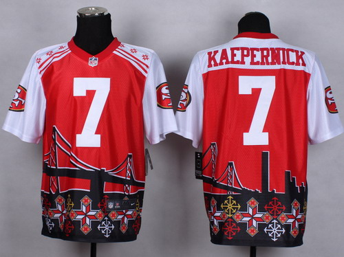 Nike San Francisco 49ers #7 Colin Kaepernick 2015 Noble Fashion Elite Jersey