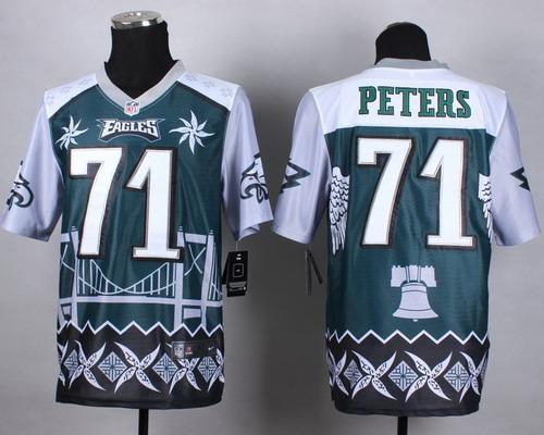 Nike Philadelphia Eagles #71 Jason Peters 2015 Noble Fashion Elite Jersey