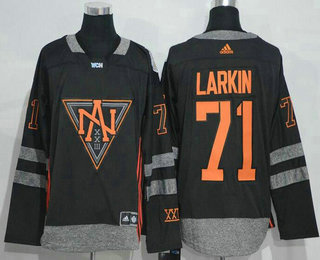 Men's North America Hockey #71 Dylan Larkin Black 2016 World Cup of Hockey Stitched adidas WCH Game Jersey