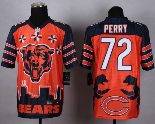 Nike Chicago Bears #72 William Perry 2015 Noble Fashion Elite Jersey