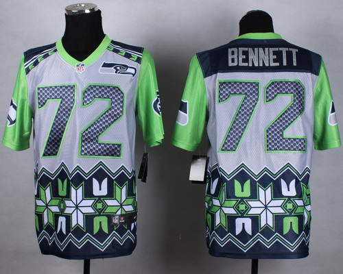 Nike Seattle Seahawks #72 Michael Bennett 2015 Noble Fashion Elite Jersey