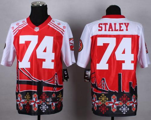 Nike San Francisco 49ers #74 Joe Staley 2015 Noble Fashion Elite Jersey