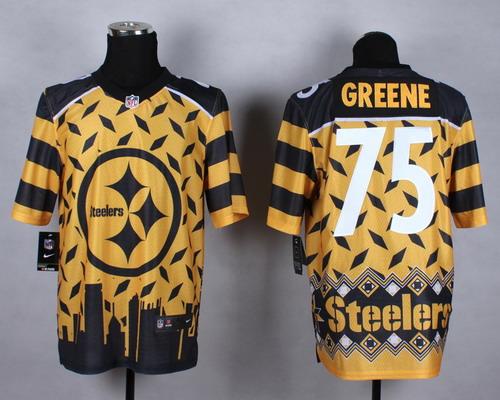 Nike Pittsburgh Steelers #75 Joe Greene 2015 Noble Fashion Elite Jersey