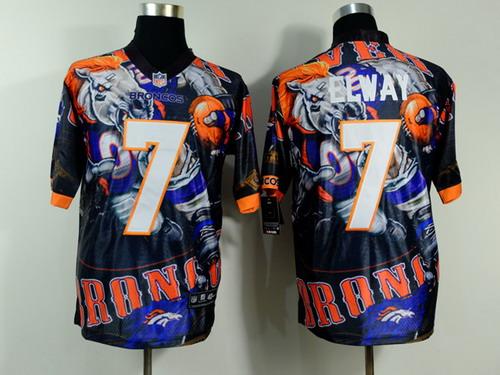 Nike Denver Broncos #7 John Elway 2014 Fanatic Fashion Elite Jersey
