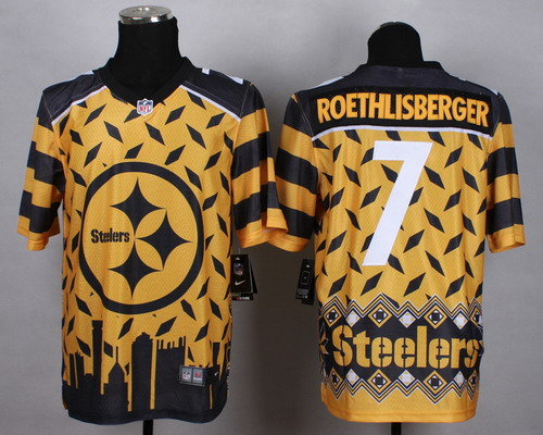 Nike Pittsburgh Steelers #7 Ben Roethlisberger 2015 Noble Fashion Elite Jersey