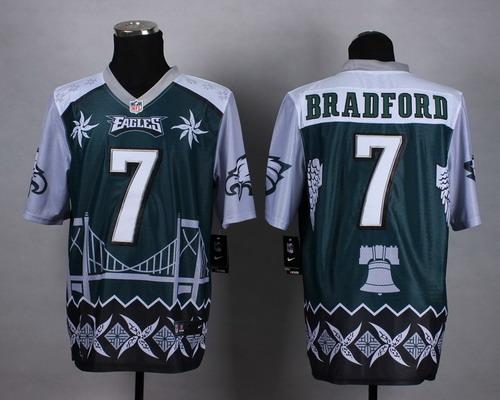 Nike Philadelphia Eagles #7 Sam Bradford 2015 Noble Fashion Elite Jersey