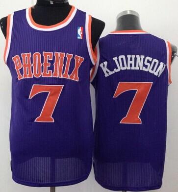 Phoenix Suns #7 Kevin Johnson Purple Swingman Jersey