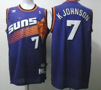 Phoenix Suns #7 Kevin Johnson Purple Swingman Throwback Jersey