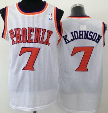 Phoenix Suns #7 Kevin Johnson White Swingman Jersey