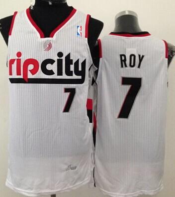 Portland Trail Blazers #7 Brandon Roy Rip City White Swingman Jersey