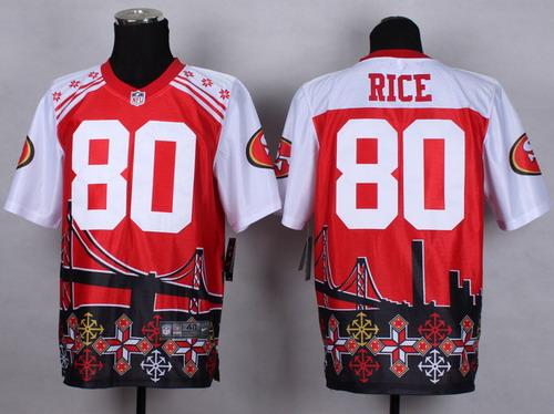 Nike San Francisco 49ers #80 Jerry Rice 2015 Noble Fashion Elite Jersey