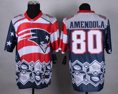 Nike New England Patriots #80 Danny Amendola 2015 Noble Fashion Elite Jersey