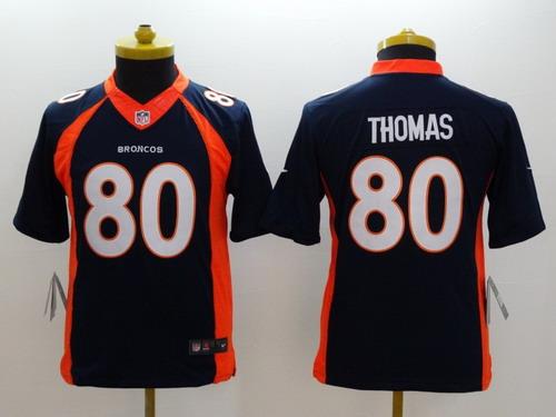 Nike Denver Broncos #80 Julius Thomas 2013 Blue Limited Kids Jersey